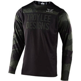 Troy Lee Designs Skyline Langarm Trikot pinstripe camo green/black